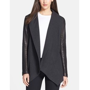 Theory Laura Classical Leather Sleeve Jacket